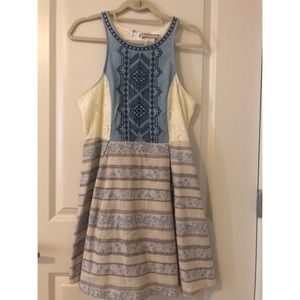 Racerback Lace and Patterned Dress
